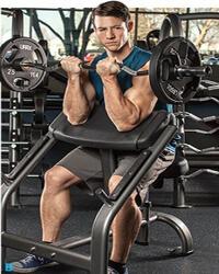 Bicepszezés scott padon