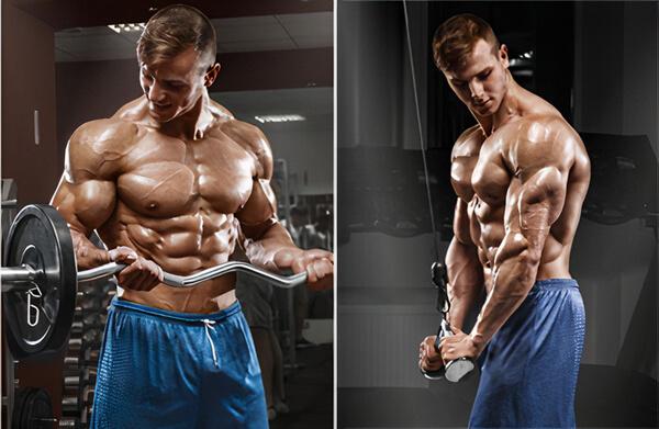 szuperszett edzés bicepsz-tricepsz