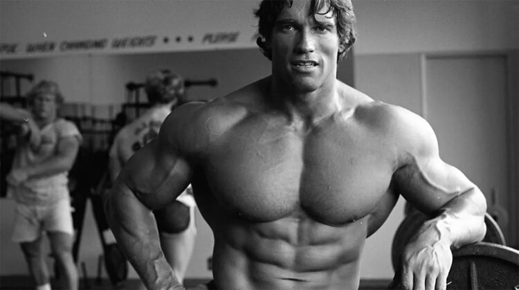 Arnold Schwarzenegger edzés után